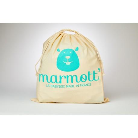 Un sac Marmott' en tissu réutilisable, lavable, recyclable et biodégradable